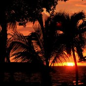 Bonaire,zonsondergang
